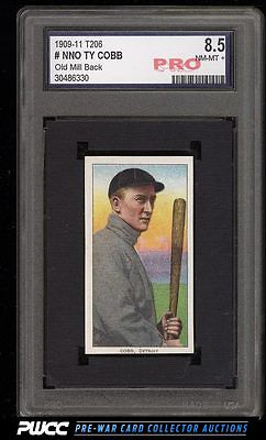 190911 T206 Ty Cobb BAT OFF SHOULDER OLD MILL PRO 85 Trimmed PWCC