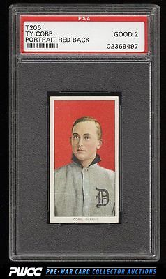 190911 T206 Ty Cobb RED PORTRAIT PSA 2 GD PWCC