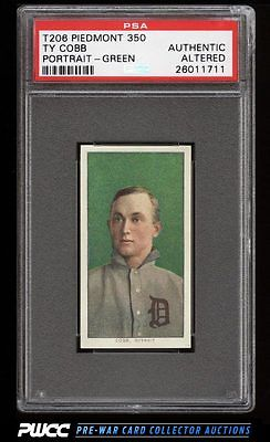 190911 T206 Ty Cobb GREEN PORTRAIT PSA AUTH Altered PWCC