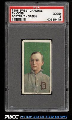 190911 T206 Ty Cobb GREEN PORTRAIT PSA 2 GD PWCC