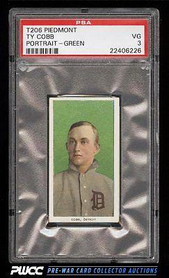 190911 T206 Ty Cobb GREEN PORTRAIT PSA 3 VG PWCC