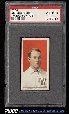 190911 T206 Kid Elberfeld WASHINGTON PORTRAIT PSA 4 VGEX PWCC