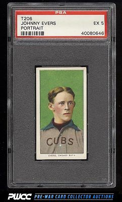 190911 T206 Johnny Evers PORTRAIT PSA 5 EX PWCC
