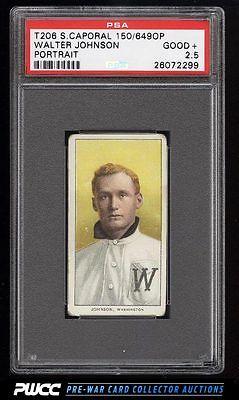 190911 T206 Walter Johnson PORTRAIT PSA 25 GD PWCC