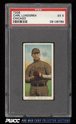 190911 T206 Carl Lundgren CHICAGO PSA 5 EX PWCC