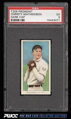 190911 T206 Christy Mathewson DARK CAP PSA 5 EX PWCC