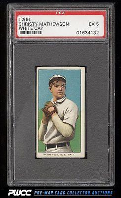 190911 T206 Christy Mathewson WHITE CAP PSA 5 EX PWCC