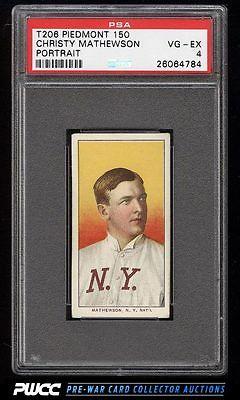 190911 T206 Christy Mathewson PORTRAIT PSA 4 VGEX PWCC