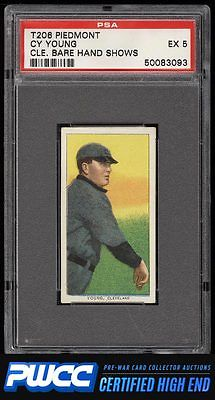 190911 T206 Cy Young CLEVELAND BARE HAND SHOWS PSA 5 EX PWCCHE