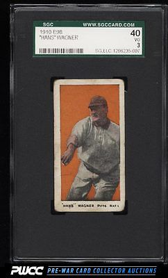 1910 E98 Set Of 30 Honus Wagner ORANGE BACKGROUND SGC 340 VG PWCC