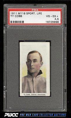 1911 M116 Sporting Life Ty Cobb PASTEL BACKGROUND PSA 45 VGEX PWCC
