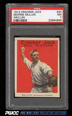 1914 Cracker Jack George Mullin 24 PSA 7 NRMT PWCC