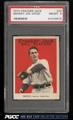 1915 Cracker Jack Smokey Joe Wood 22 PSA 8 NMMT PWCC