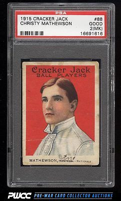 1915 Cracker Jack Christy Mathewson 88 PSA 2mk GD PWCC