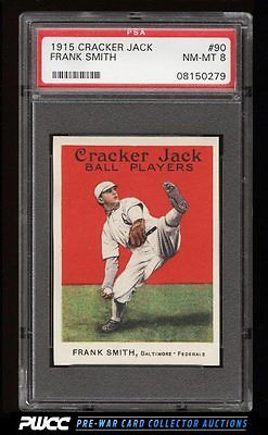 1915 Cracker Jack Frank Smith 90 PSA 8 NMMT PWCC