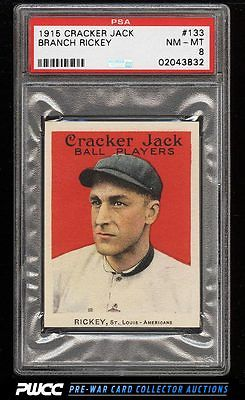 1915 Cracker Jack Branch Rickey 133 PSA 8 NMMT PWCC