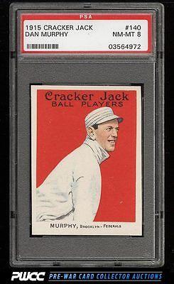 1915 Cracker Jack Danny Murphy 140 PSA 8 NMMT PWCC