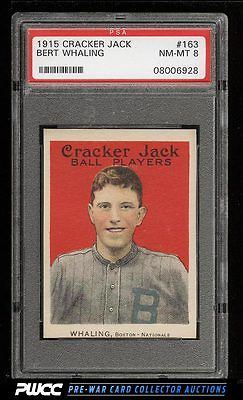 1915 Cracker Jack Bert Whaling 163 PSA 8 NMMT PWCC