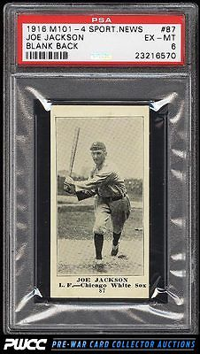 1916 M1014 Sporting News Shoeless Joe Jackson 87 PSA 6 EXMT PWCC