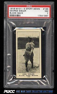 1916 M1015 Sporting News George Sisler ROOKIE RC 166 PSA 7 NRMT PWCC