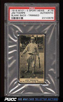 1916 M1015 Sporting News Jim Thorpe 176 PSA AUTH Trimmed PWCC