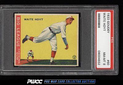 1933 Goudey Waite Hoyt 60 PSA 8 NMMT PWCC