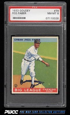 1933 Goudey Red Faber 79 PSA 8 NMMT PWCC