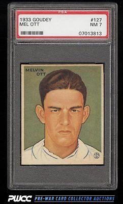 1933 Goudey Mel Ott 127 PSA 7 NRMT PWCC