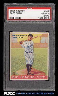 1933 Goudey Babe Ruth 144 PSA 4mk VGEX PWCC