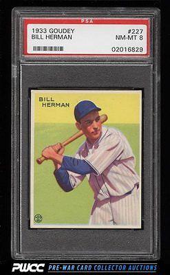 1933 Goudey Bill Herman 227 PSA 8 NMMT PWCC