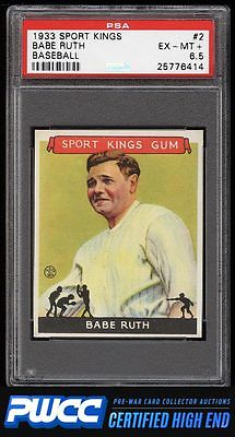 1933 Goudey Sport Kings Babe Ruth 2 PSA 65 EXMT PWCCHE
