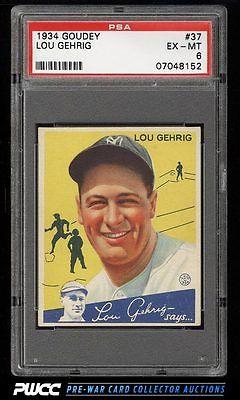 1934 Goudey Lou Gehrig 37 PSA 6 EXMT PWCC