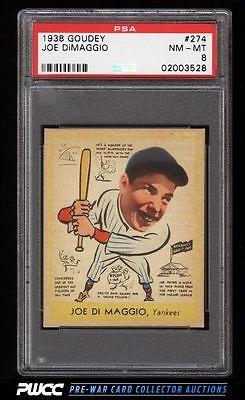 1938 Goudey Joe DiMaggio ROOKIE RC 274 PSA 8 NMMT PWCC