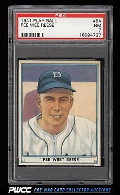 1941 Play Ball Pee Wee Reese ROOKIE RC 54 PSA 7 NRMT PWCC