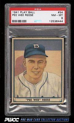 1941 Play Ball Pee Wee Reese ROOKIE RC 54 PSA 8 NMMT PWCC