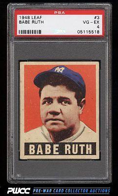 1948 Leaf Babe Ruth 3 PSA 4 VGEX PWCC