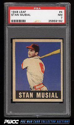 1948 Leaf Stan Musial ROOKIE RC 4 PSA 7 NRMT PWCC