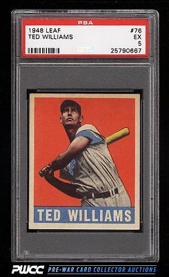 1948 Leaf Ted Williams 76 PSA 5 EX PWCC