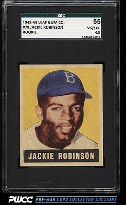 1948 Leaf Jackie Robinson ROOKIE RC 79 SGC 4555 VGEX PWCC