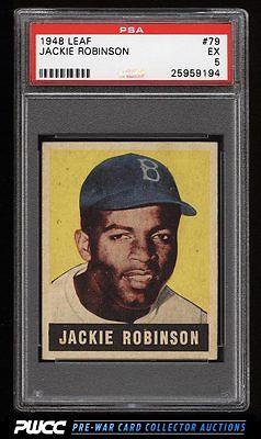 1948 Leaf Jackie Robinson ROOKIE RC 79 PSA 5 EX PWCC