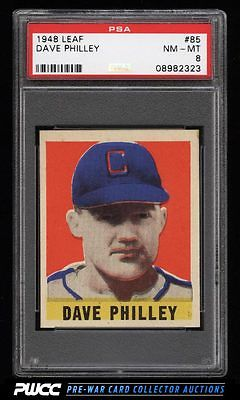 1948 Leaf Dave Philley SP ROOKIE RC 85 PSA 8 NMMT PWCC