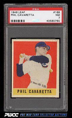 1948 Leaf Phil Cavaretta SHORT PRINT 168 PSA 7 NRMT PWCC