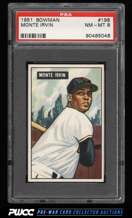 1951 Bowman Monte Irvin ROOKIE RC 198 PSA 8 NMMT PWCC