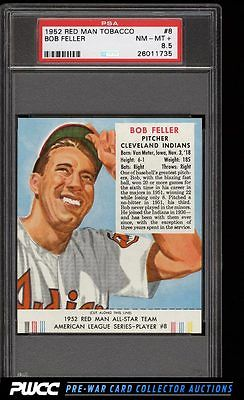 1952 Red Man Tobacco Bob Feller 8 PSA 85 NMMT PWCC