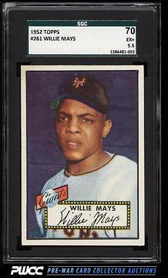 1952 Topps Willie Mays 261 SGC 5570 EX PWCC
