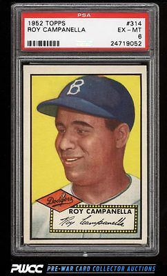 1952 Topps Roy Campanella 314 PSA 6 EXMT PWCC
