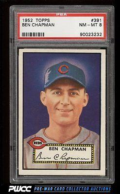 1952 Topps Ben Chapman 391 PSA 8 NMMT PWCC