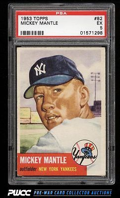1953 Topps Mickey Mantle SHORT PRINT 82 PSA 5 EX PWCC