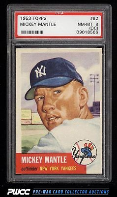 1953 Topps Mickey Mantle SHORT PRINT 82 PSA 8oc NMMT PWCC