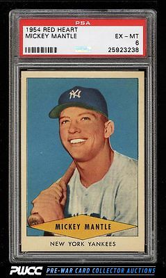 1954 Red Heart Mickey Mantle PSA 6 EXMT PWCC